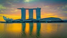 Singapore City in early morning stock images