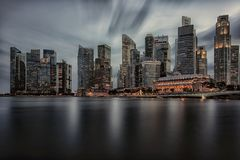 Singapore city in evening royalty free stock image