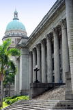 Singapore: City Hall and Supreme Court Dome Royalty Free Stock Photo