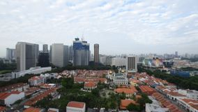 Singapore city of historical buildings and skyscrapers stock footage