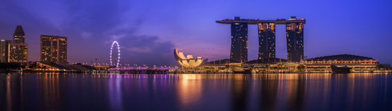 Singapore city. Landscape of Singapore city with nice sky Royalty Free Stock Photo