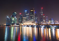 Singapore City light night Stock Images