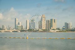 Singapore city at Marina bay in morning Stock Image