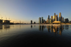 Singapore city in the morning Stock Photo