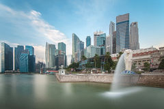 Singapore city in morning time Royalty Free Stock Images