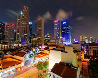 Singapore - the city never sleeps Stock Images