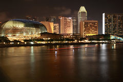 Singapore City At Night. Singapore city view along singapore river,view from merlion park royalty free stock image