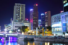 Singapore city at night Royalty Free Stock Photos