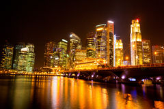 Singapore city at night. Singapore city skyline at night Royalty Free Stock Photography