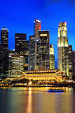 Singapore city at night. Singapore city skyline at night Stock Photos