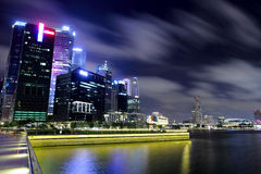 Singapore city at night Stock Image