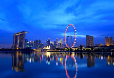 Singapore city at night Royalty Free Stock Photo