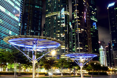 Singapore city night Stock Image