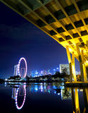 Singapore city at night Royalty Free Stock Image