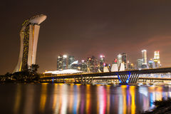 Singapore city at night Royalty Free Stock Photography