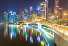 Singapore city. At night time Stock Photo