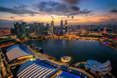 Singapore city panaramic from top view Royalty Free Stock Images