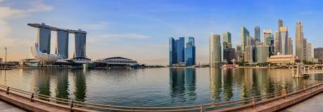 Singapore cityscape panorama Stock Photography