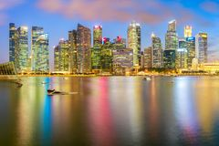 Singapore city. Panorama view of the financial district and business office building in singapore city Royalty Free Stock Images