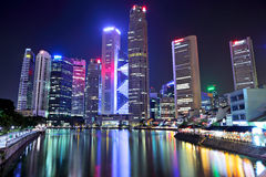 Singapore city skyline Stock Photography