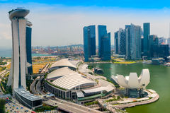 Singapore city skyline. Aerial view of Singapore city skyline Royalty Free Stock Images
