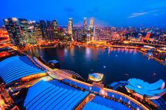 Singapore city skyline. Aerial view of Singapore city skyline Royalty Free Stock Photos