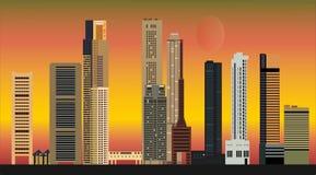 Singapore city skyline Royalty Free Stock Photos