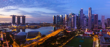 Singapore city skyline Stock Photos