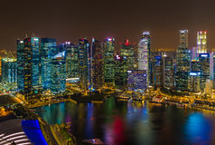 Singapore city skyline. Architecture and travel background Royalty Free Stock Photos