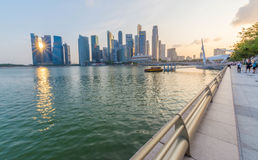 Singapore City Skyline Royalty Free Stock Photography