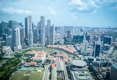 Singapore city skyline of business district downtown in daytime royalty free stock images