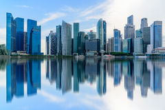 Singapore city skyline of business district downtown Royalty Free Stock Photo