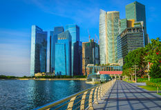 Singapore city skyline of business district downtown Royalty Free Stock Image