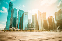 Singapore city skyline of business district downtown in daytime. Royalty Free Stock Images