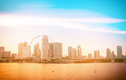 Singapore city skyline of business district downtown in daytime. Stock Images