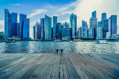Singapore city skyline of business district downtown in daytime. Royalty Free Stock Image