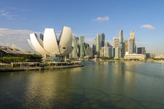 Singapore city skyline of business district downtown Stock Image