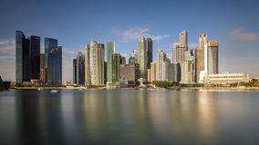 Singapore city skyline of business district downtown Stock Photos