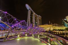 Singapore city skyline at business district, Marina Bay, Singapo Royalty Free Stock Images