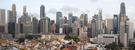 Singapore Skyline Along Chinatown Area Stock Images