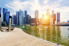 Singapore city skyline. At day Stock Photography