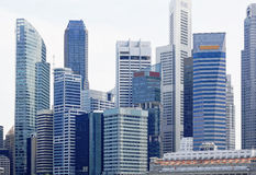 Singapore city skyline Royalty Free Stock Images