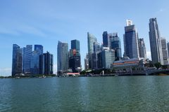 Singapore city skyline in daytime Royalty Free Stock Photography