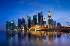 Singapore city skyline at dusk, Singapore referred to as the Lion City, the Garden City Royalty Free Stock Images