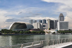 Singapore city skyline finacial district Royalty Free Stock Images