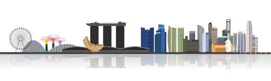 Singapore cityscape illustration Royalty Free Stock Photo