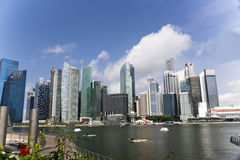 Singapore City Skyline at Marina Bay Royalty Free Stock Image