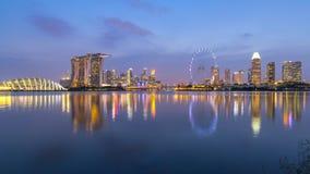 Singapore City Skyline at Marina Bay during sunset Royalty Free Stock Photos