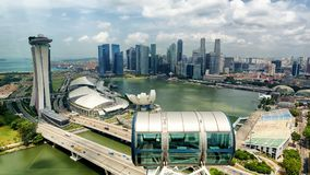 Singapore city skyline, Marina bay from top of Singapore flyer, Singapore Royalty Free Stock Photography