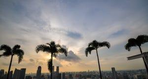 Singapore city skyline Marina Sands Bay Stock Photos